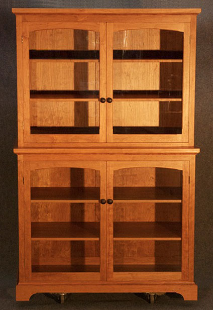 Beau Black Cherry Display Cabinet. Mortise ...