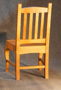 Cherry Brazos Dining Chair Back