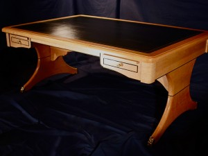 Curly Maple/Leather Desk