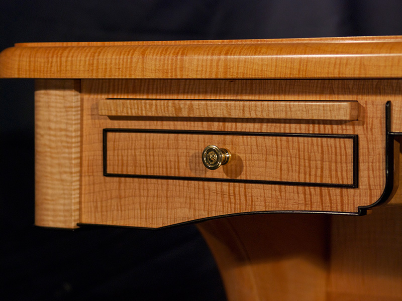 Leather Top Desk Drawer