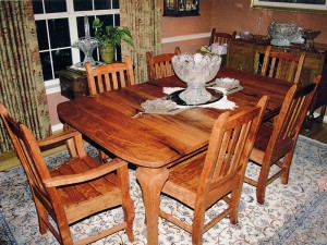 Mesquite Cabriole Leg Table