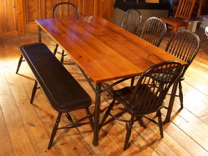 Mesquite and Iron Table
