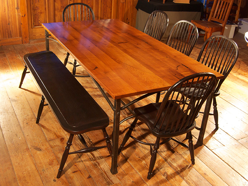 Mesquite and Iron TableTables   Homestead Heritage Furniture. Mesquite Dining Room Tables. Home Design Ideas