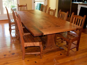 Mesquite Rustic Trestle Table