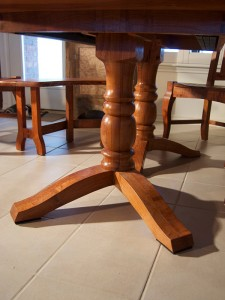 Mesquite Round Table Detail
