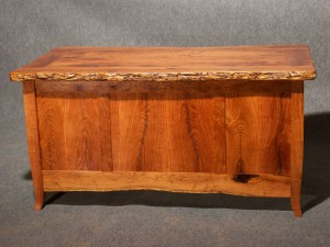 Rustic Mesquite Desk Back View