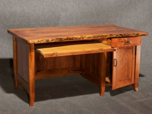 Rustic Mesquite Desk - Open