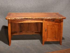 Rustic Mesquite Desk Front View