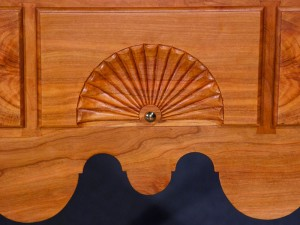 Black Cherry Lowboy - Carving Detail