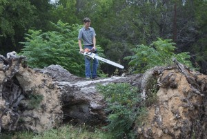 Joel on the log