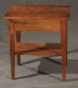 Mesquite End table with Shelf